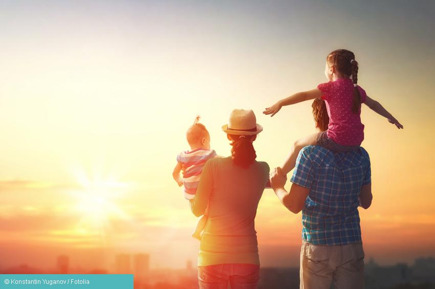 Depression heilbar - glückliche Familie