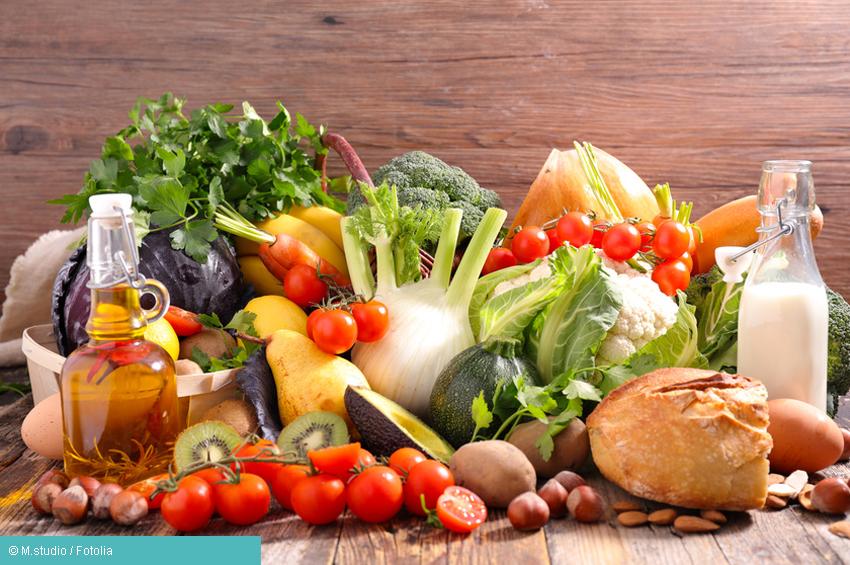 Verschiedene Lebensmittel