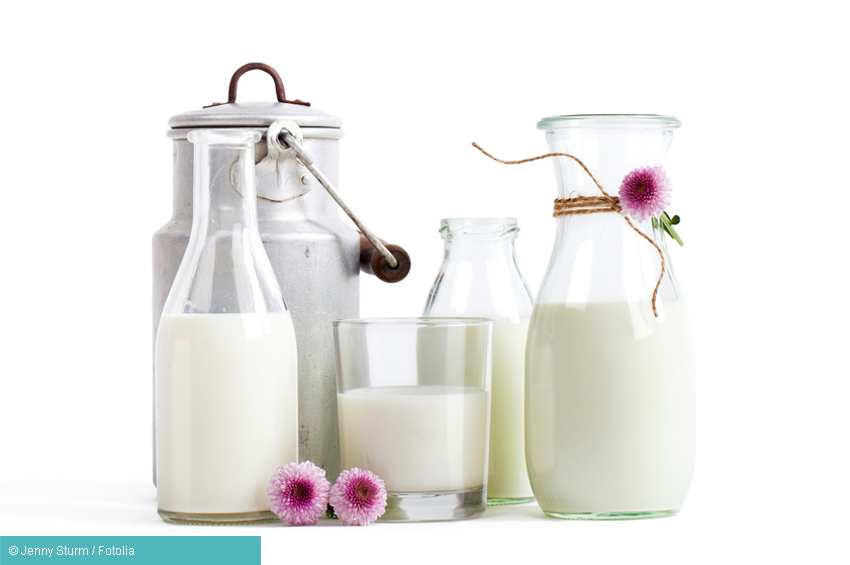 Gefüllte Milchkannen