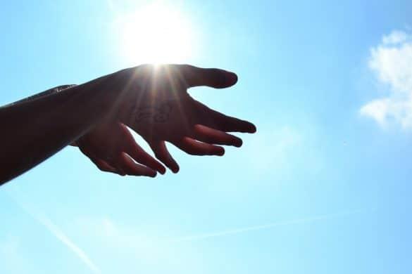 Hände Sonne