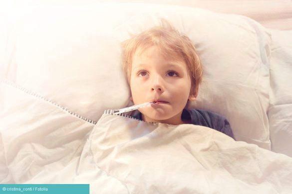 Kind mit Dreitagefieber