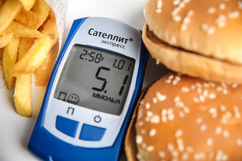 Ungesunde Ernährung als Ursache für Diabetes Ttyp 2
