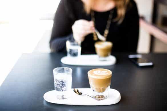 Kaffee in einem Kaffeehaus