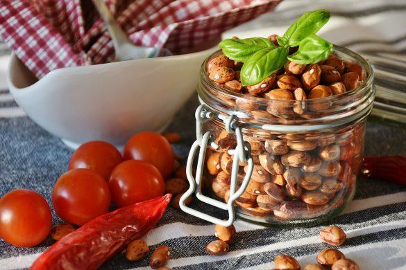Hülsenfrüchte und Gemüse, Lebensmittel mit niedrigem Glyx