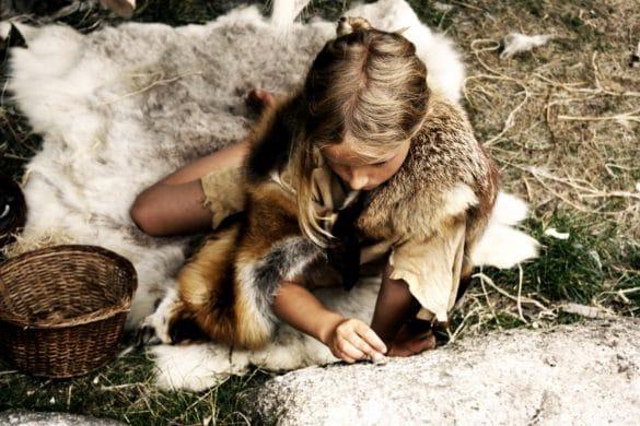 Mädchen, Steinzeit, Ernährung in der Steinzeit